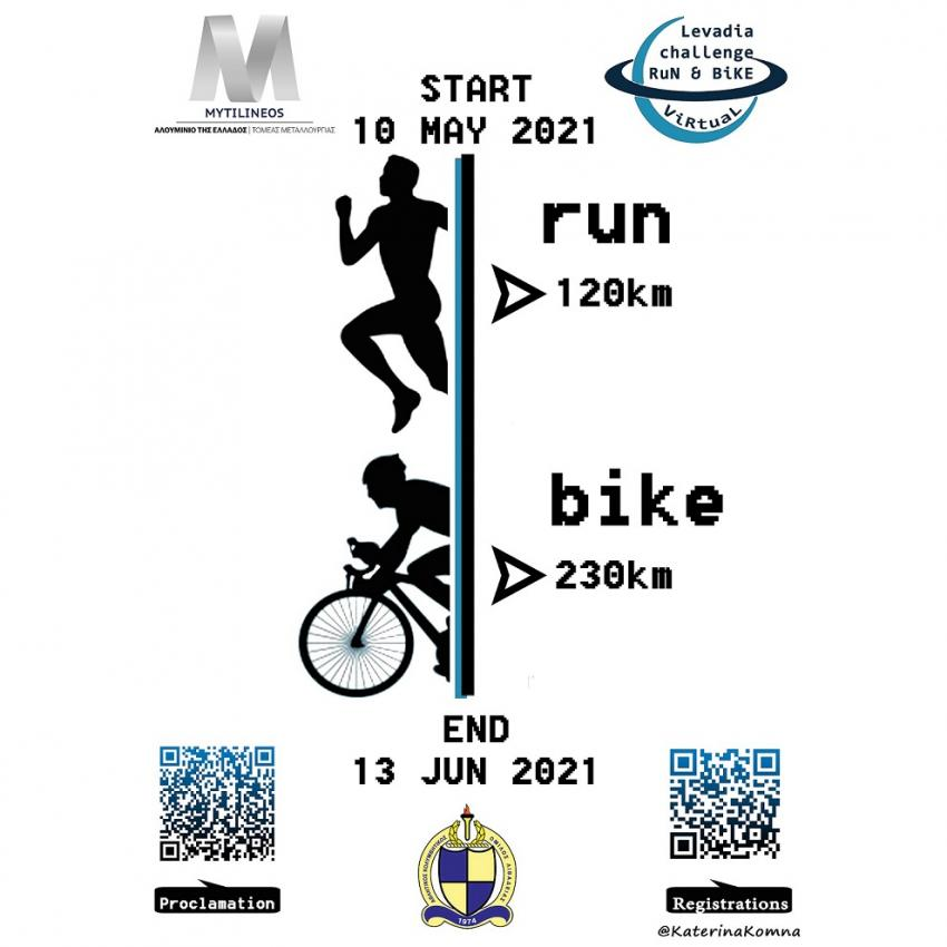 Levadia Virtual challenge RUN & BIKE