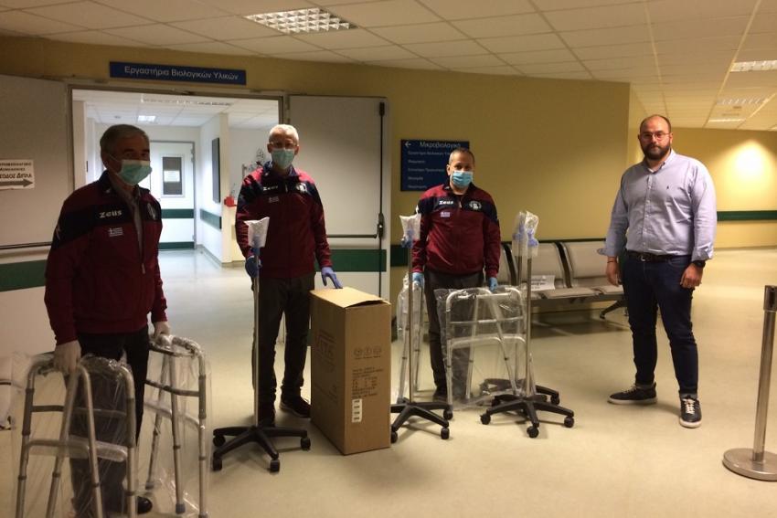 Ευγενική παροχή νοσοκομειακού εξοπλισμού από τον Α.Π.Σ. Δρομέων Πιερίας «ΖΕΥΣ» στο Γενικό Νοσοκομείο Κατερίνης