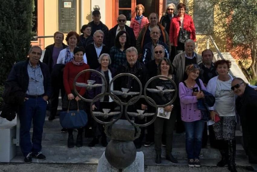 """Επίσκεψης της διοργάνωσης """"Κίνηση Πολιτών Αλίμου"""" στο Μουσείο Μαραθωνίου Δρόμου"""